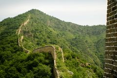 Ancient bricks and stones of the great wall Royalty Free Stock Photography