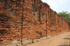 Old Bricks Walls With Sunlight royalty free stock photography
