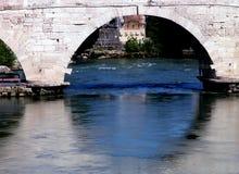 Ancient bridge. Rome, Italy royalty free stock photo