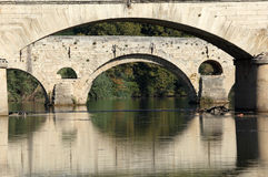 Ancient bridge in Beziers, France Royalty Free Stock Photos