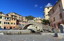 Ancient bridge in Bogliasco, Italy Royalty Free Stock Photo