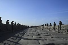 Ancient bridge of China royalty free stock photography