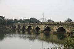 Ancient bridge of China Stock Images