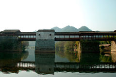 Ancient bridge of china Stock Photography