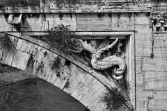 Ancient bridge decoration Stock Images