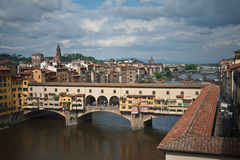 Ancient bridge in Florence. Royalty Free Stock Photos
