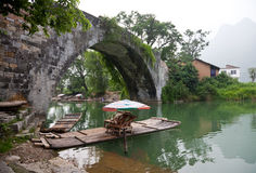 Ancient bridge in Guilin Stock Photos