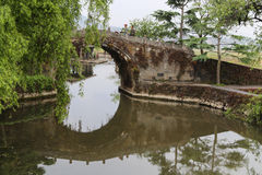 Ancient bridge in Heshun town, Yunnan, China Royalty Free Stock Images