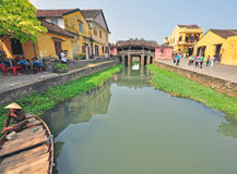 Ancient bridge in Hoi An town, Vietnam Royalty Free Stock Photo