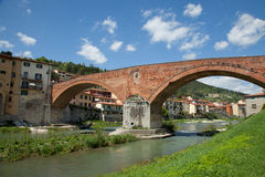 Ancient bridge in Italy Royalty Free Stock Image