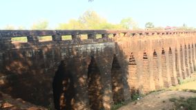 Ancient bridge over 1,000 years old in Cambodia stock video footage