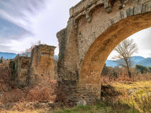 The ancient bridge at Ponte Novu, Corsica Stock Images