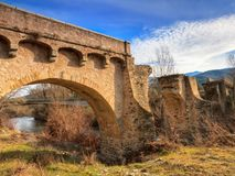 The ancient bridge at Ponte Novu, Corsica Stock Photos
