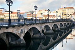 Ancient bridge  in Pontevedra Stock Photo