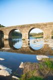 Ancient bridge and reflect Royalty Free Stock Photos