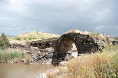 Ancient bridge ruins Stock Photo