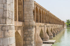 The ancient bridge Si-o-Seh Pol Royalty Free Stock Images