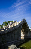 The ancient bridge ,summer palace ,beijing. The ancient marble and stone arch bridge Royalty Free Stock Images