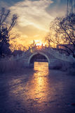 Ancient Bridge at sunset Royalty Free Stock Images