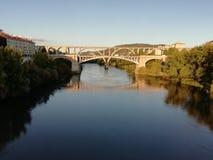Ancient bridges. Of the city of Orense Galicia, Spain royalty free stock photo