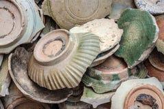 Ancient broken ceramic Stock Images
