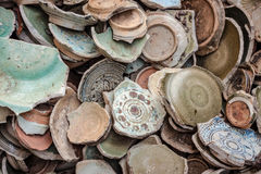 Ancient broken ceramic Stock Photography