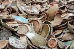 Ancient broken ceramic Royalty Free Stock Images