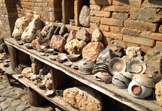 Ancient broken porcelain. In ancient village Royalty Free Stock Photography