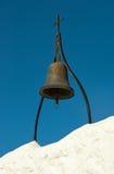 Ancient bronze bell in Tsambika monastery Stock Photo
