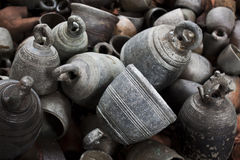 Ancient Bronze Bells Royalty Free Stock Photo