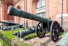 Ancient bronze cannon Stock Image