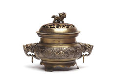 Ancient bronze incense burner Stock Images