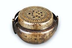 Ancient bronze incense burner Stock Images