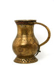 Ancient bronze jug. With incrustation,  isolated on white background Stock Photo