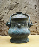 Ancient Bronze Vase with Lid at Terracotta Warrior Museum Xian Stock Photo