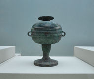 Ancient Bronze Vase at Terracotta Warrior Museum Xian Royalty Free Stock Images