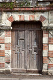 Ancient brown wooden door Royalty Free Stock Photos