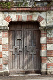 Ancient brown wooden door Stock Photos