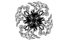 Ancient brush ornament royalty free illustration