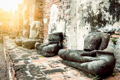 Ancient Buddha. Image, Ayutthaya Province, Thailand Royalty Free Stock Photography