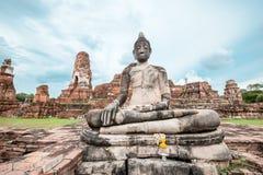 Ancient Buddha. Image, Ayutthaya Province, Thailand Stock Images