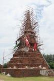 Ancient Buddha. At Ayuthaya in Thailand Royalty Free Stock Images