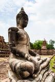 Ancient Buddha. At Ayuthaya in Thailand Royalty Free Stock Image