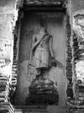 Ancient Buddha. In Ayutthaya, Thailand Royalty Free Stock Photography