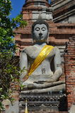 Ancient Buddha. Ayutthaya, Thailand Stock Images