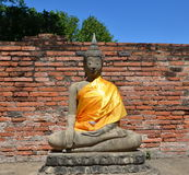 Ancient Buddha. Ayutthaya, Thailand Royalty Free Stock Image