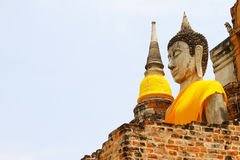 Ancient Buddha, Ayutthaya, Thailand Royalty Free Stock Photos