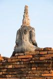Ancient Buddha of chai watthanaram temple. Royalty Free Stock Image