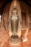 Ancient Buddha on the  Church in Hor Phakaeo Temple, Laos . Stock Photo