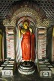 Ancient Buddha in Dambulla Rock Temple, Sri Lanka royalty free stock photography